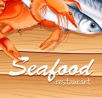 Frutos do mar vetor