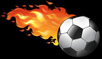 Bola de futebol em chamas vetor