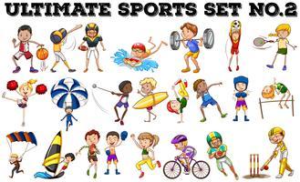 Vários tipos de esportes
