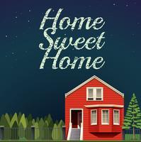 Lar doce lar à noite vetor