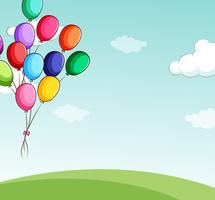 Balões vetor