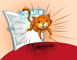 Gato correndo vetor
