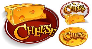 Projetos de logotipo com queijo vetor