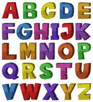 Design de fonte para alfabetos ingleses vetor