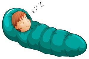 Saco de dormir vetor