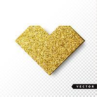 Coração de ouro brilhos