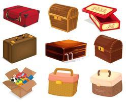 Sacos e caixas vetor
