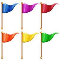 Bandeiras coloridas vetor