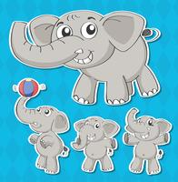 Elefantes vetor