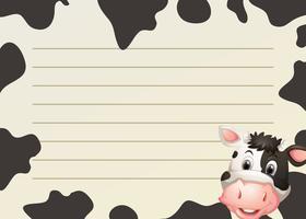 Design de papel com vaca e pele