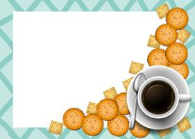 Biscoitos e café na fronteira vetor