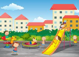 Um parque infantil