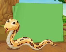 Design de fronteira com rastejando de cobra