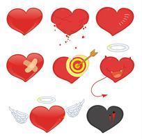 corações vetor