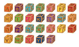 cubos de alfabeto vetor