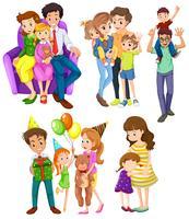 Famílias diferentes vetor