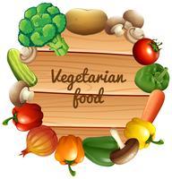 Design de fronteira com legumes frescos vetor