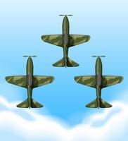 Aviões voando no céu vetor
