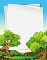 Papéis e árvores vetor