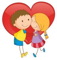Casal e coração vetor