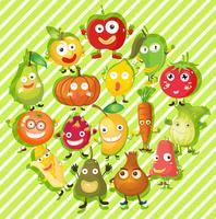 Tipo diferente de frutas e legumes vetor