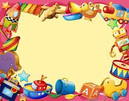 Banner de brinquedos vetor
