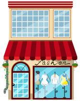 Uma loja de moda feminina vetor