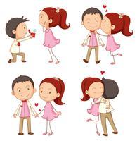 Um menino e uma menina vetor