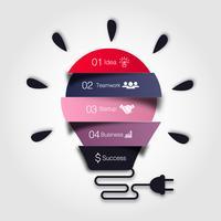 Infográfico de lâmpada de vetor