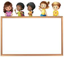 Crianças e placa