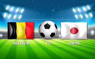Modelo de Bélgica VS Japão vetor