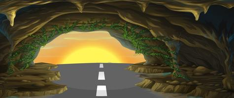 Uma taberna com uma estrada