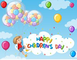 Fundo de dia feliz infantil