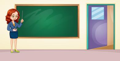 Um professor na sala de aula vetor