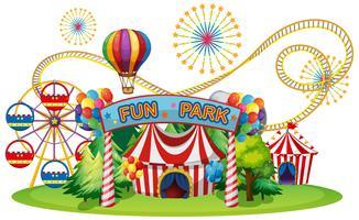 Um circo e feira de diversões vetor