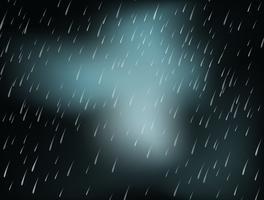 Fundo, com, chuva pesada, à noite vetor