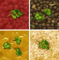 Close-Up tipo diferente de sopa vetor
