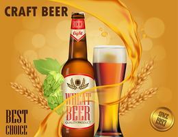 Design de propaganda de cerveja. vetor