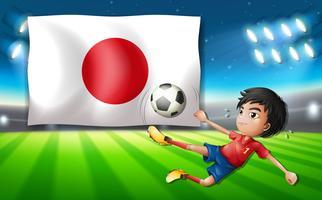 Modelo de jogador de futebol japonês vetor