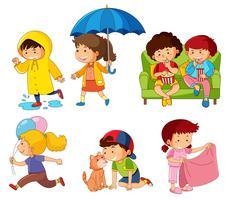 Conjunto de caracteres de crianças vetor