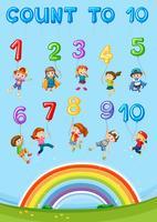 Capítulo de contagem de números de matemática vetor