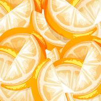 Um fundo de fruta laranja sem emenda vetor