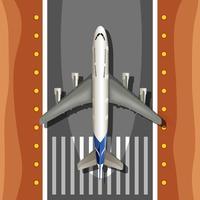 Um avião na pista vetor