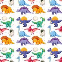 Um dinossauro no padrão sem emenda vetor