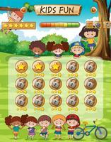 Modelo de jogo divertido para crianças