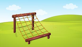 Equipamento de escalada no playground vetor