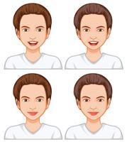 Expressão facial feminino vetor