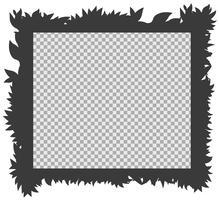 Modelo de quadro com grama de silhueta vetor