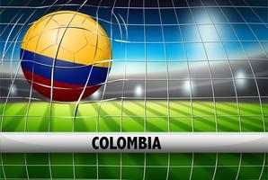 Bandeira de bola de futebol de Columbia vetor