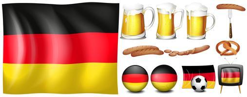Conjunto alemão vetor